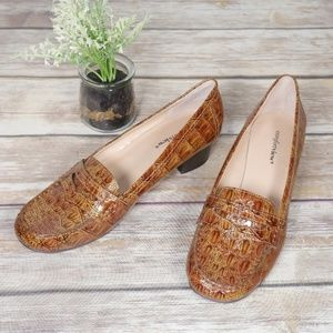 Faux Reptile Loafers